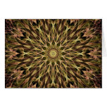 Gold and Copper Kaleidoscope Greeting Card