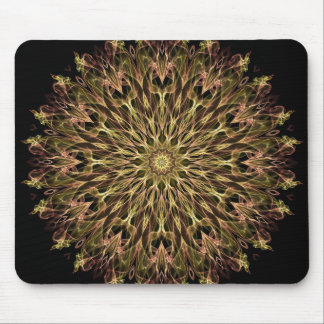 Gold and Copper Kaleidoscope Mouse Pad