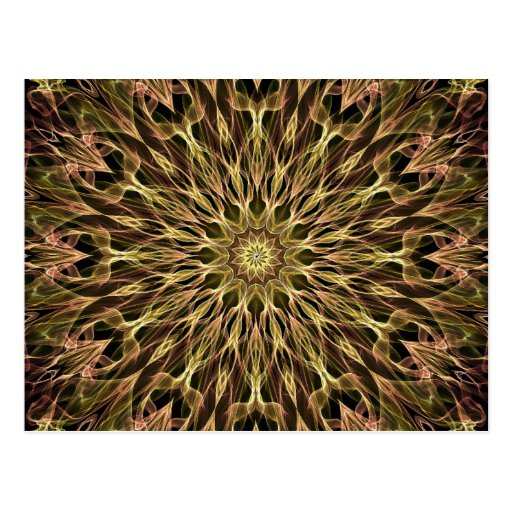 Gold and Copper Kaleidoscope Postcard