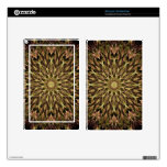 Gold and Copper Kaleidoscope Skins For Kindle Fire