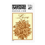 Gold and Cream Rose Bouquet Love Postage