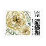 Gold and Cream Rose Stamp