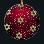 "Gold and Crystal Star of David Hanukkah Ornament<br><div class=""desc"">Holiday Decor and Gifts by Tailored Type. I am more than happy to help you with your Zazzle experience. For example, do you like the design but need a different color? Need help with the Zazzle editor? No problem! Email me: carrie at tailoredtype dot com You can also use the...</div>"