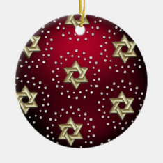 Gold And Crystal Star Of David Hanukkah Ornament at Zazzle