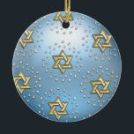 """Gold and Crystal Star of David Hanukkah Ornament<br><div class=""""desc"""">Holiday Decor and Gifts by Tailored Type. I am more than happy to help you with your Zazzle experience. For example, do you like the design but need a different color? Need help with the Zazzle editor? No problem! Email me: carrie at tailoredtype dot com You can also use the...</div>"""