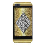 Gold and Diamond Casing iPhone 5 Cover