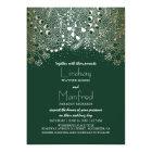 Gold and Emerald Green Enchanted Woodland Wedding Card