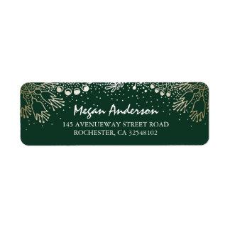 Gold and Emerald Green Garden Wonderland Wedding Label