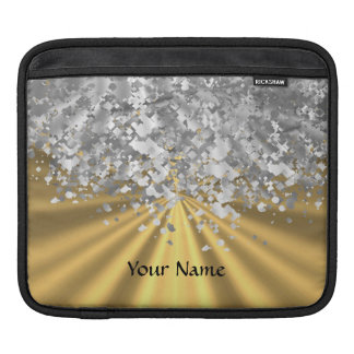 Gold and faux glitter iPad sleeves