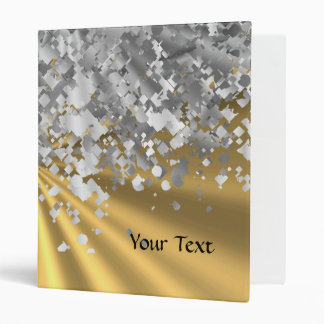 Gold and faux glitter personalized binder