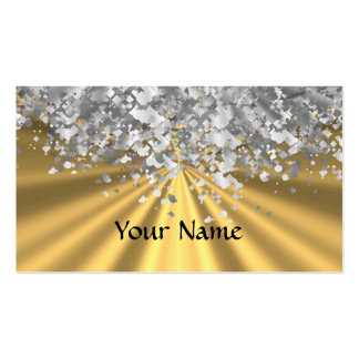 Gold and faux glitter personalized business card