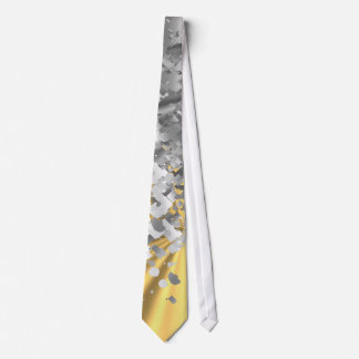 Gold and faux glitter personalized neck tie
