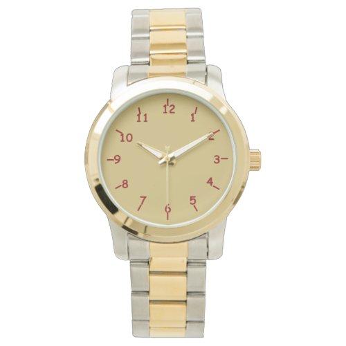 Gold and Garnet Watch