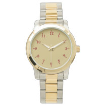 Gold and Garnet Wrist Watches