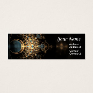 Gold and Gems Mini Business Card