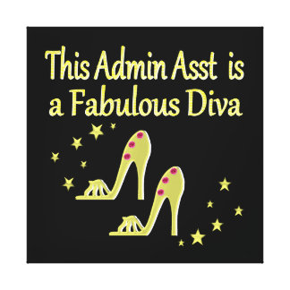GOLD AND GLITZY ADMIN ASST SHOE LOVER DESIGN CANVAS PRINT