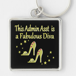 GOLD AND GLITZY ADMIN ASST SHOE LOVER DESIGN KEYCHAIN