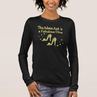 GOLD AND GLITZY ADMIN ASST SHOE LOVER DESIGN LONG SLEEVE T-Shirt
