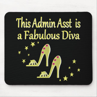 GOLD AND GLITZY ADMIN ASST SHOE LOVER DESIGN MOUSE PAD