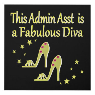 GOLD AND GLITZY ADMIN ASST SHOE LOVER DESIGN PANEL WALL ART