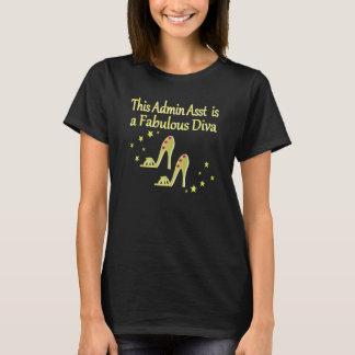 GOLD AND GLITZY ADMIN ASST SHOE LOVER DESIGN T-Shirt