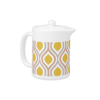 Gold and Gray Modern Teapot