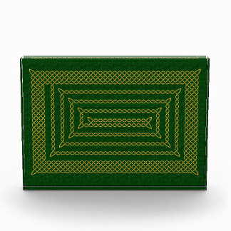 Gold And Green Celtic Rectangular Spiral Awards