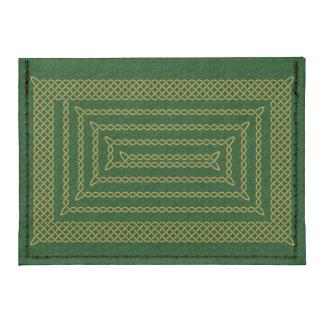 Gold And Green Celtic Rectangular Spiral Tyvek® Card Wallet