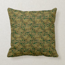 Gold And Green Celtic Spiral Knots Pattern