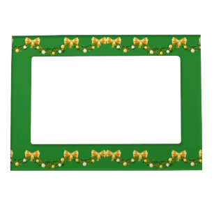 gold and green christmas 5x7 magnetic frame