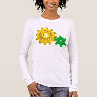 Gold and green gears long sleeve T-Shirt