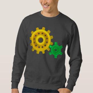 Gold and green gears sweatshirt