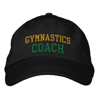 Gold and Green Gymnastics Coach Hat Embroidered Hat