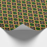 Gold and Green Holiday Bling Wrapping Paper