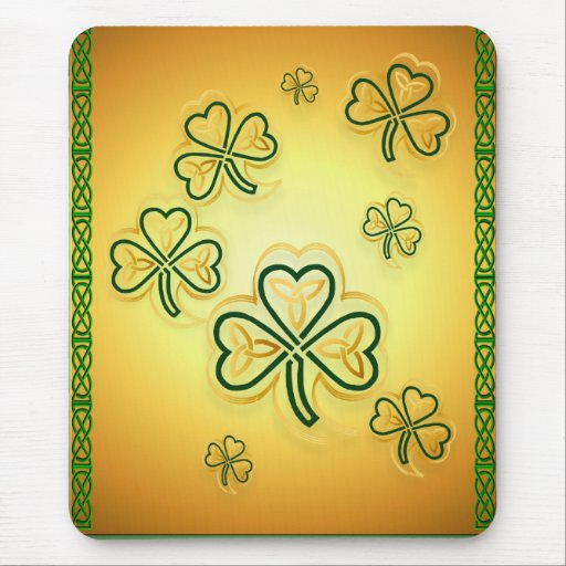 Gold and Green Shamrocks-2Vertical Mousepads