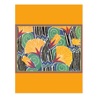 Gold and Green Straw Flowers Postcard
