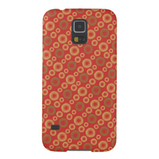 Gold and green swirly circles cases for galaxy s5