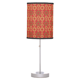 Gold and green swirly circles. table lamp