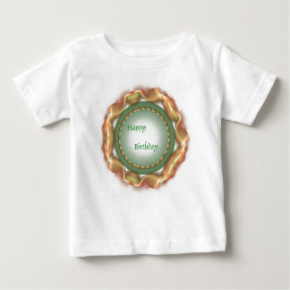 Gold and Green Wreath Design. Baby T-Shirt