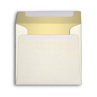 Gold and Ivory Cream Envelope