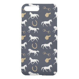Gold and Ivory English Horses Pattern iPhone 7 Plus Case