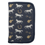 Gold and Ivory English Horses Pattern Organizers