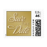 Gold and Ivory Save the Date Postage Stamp