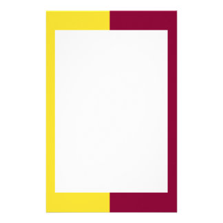 Gold and Maroon Border Stationery
