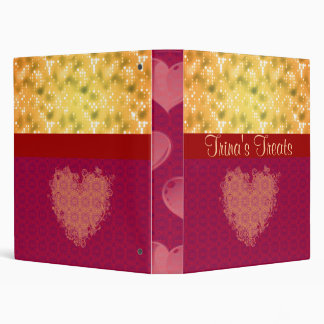 Gold and Maroon Recipe Book Binder