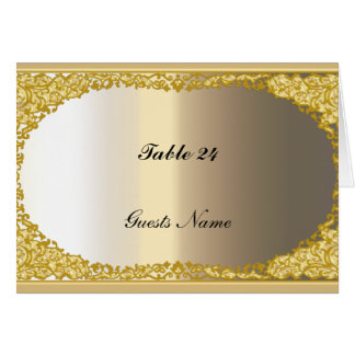 Gold and Metal look Table Place Card Menu