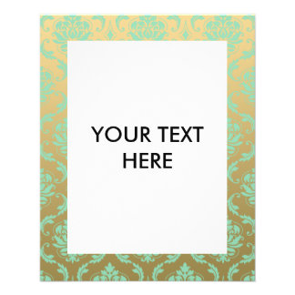 Gold and Mint Classic Damask Flyer
