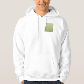 Gold and Mint Classic Damask Hoodie