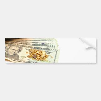 Gold And Money Bumper Sticker