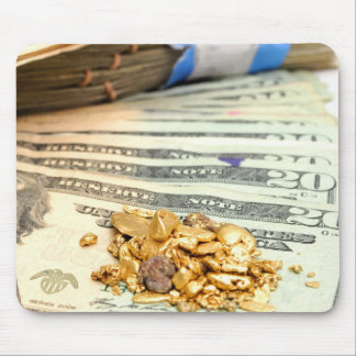 Gold And Money Mouse Pad